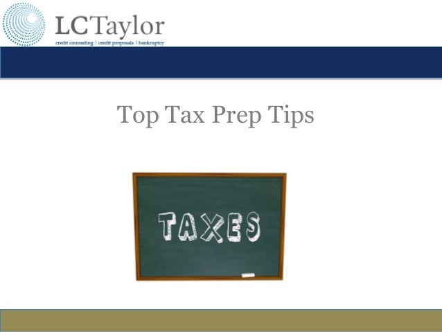 Top Tax Prep Tips