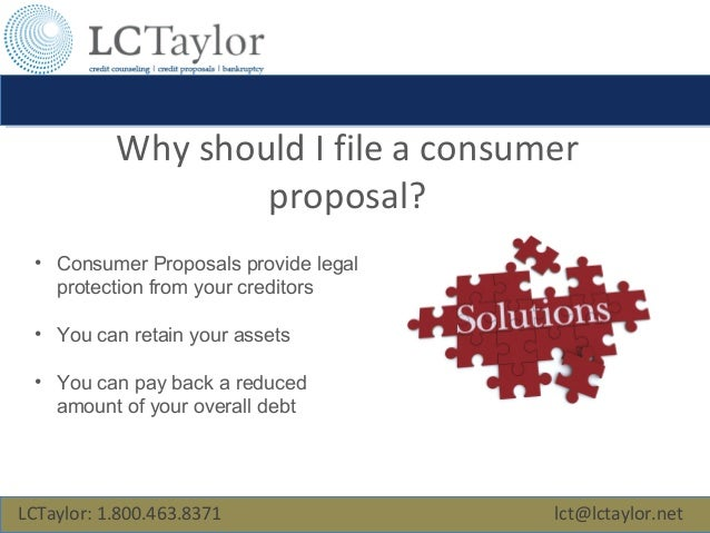 Consumer Proposal - Free Help For Homeowners