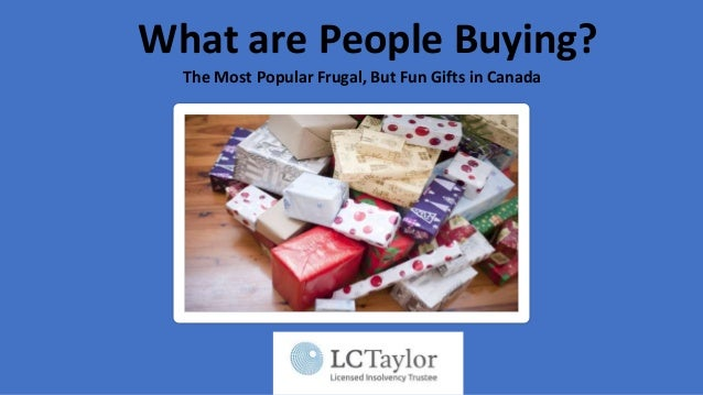 What are People Buying? The Most Popular Frugal, But Fun Gifts in Canada