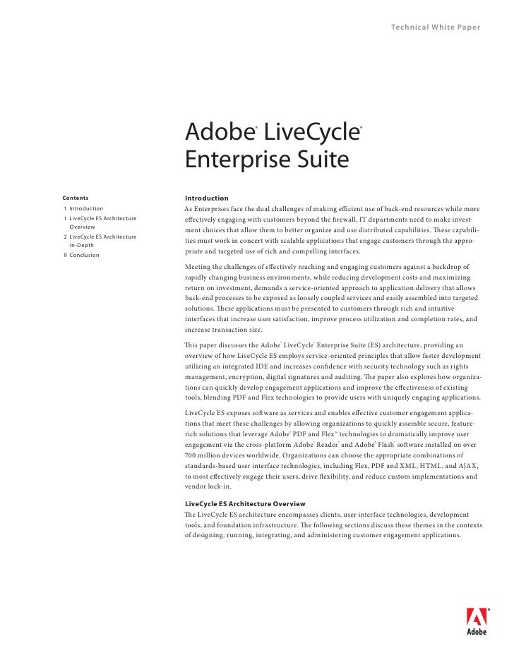 Technical White Paper                                       Adobe 	LiveCycle 	     ®                                 ®    ...