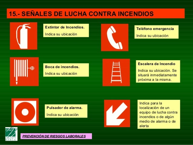 Lucha contra incendios for Medidas contra incendios