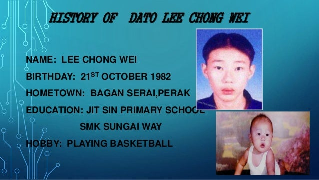 Lee Chong Wei S Background And Achievement Malaysia Study