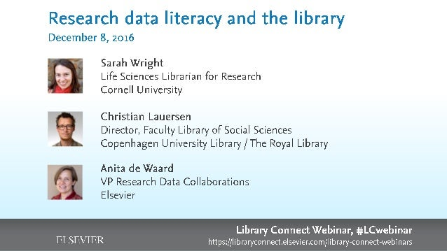 Teaching Data Information Literacy Sarah J. Wright Life Sciences Librarian for Research, Cornell University