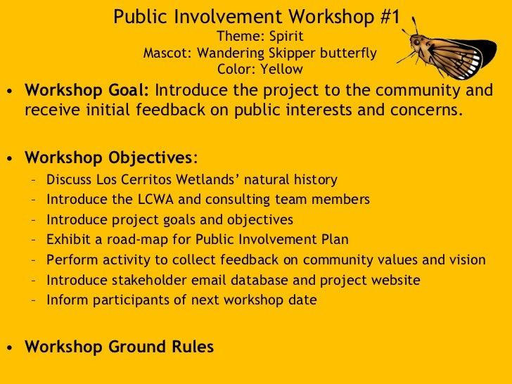 LCW Conceptual Restoration Workshop #1 Slide 2