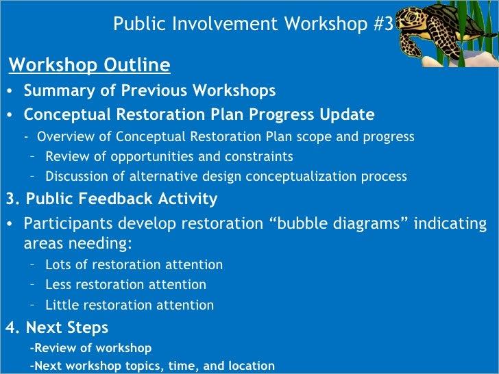 LCW Conceptual Restoration Workshop #3 Slide 3