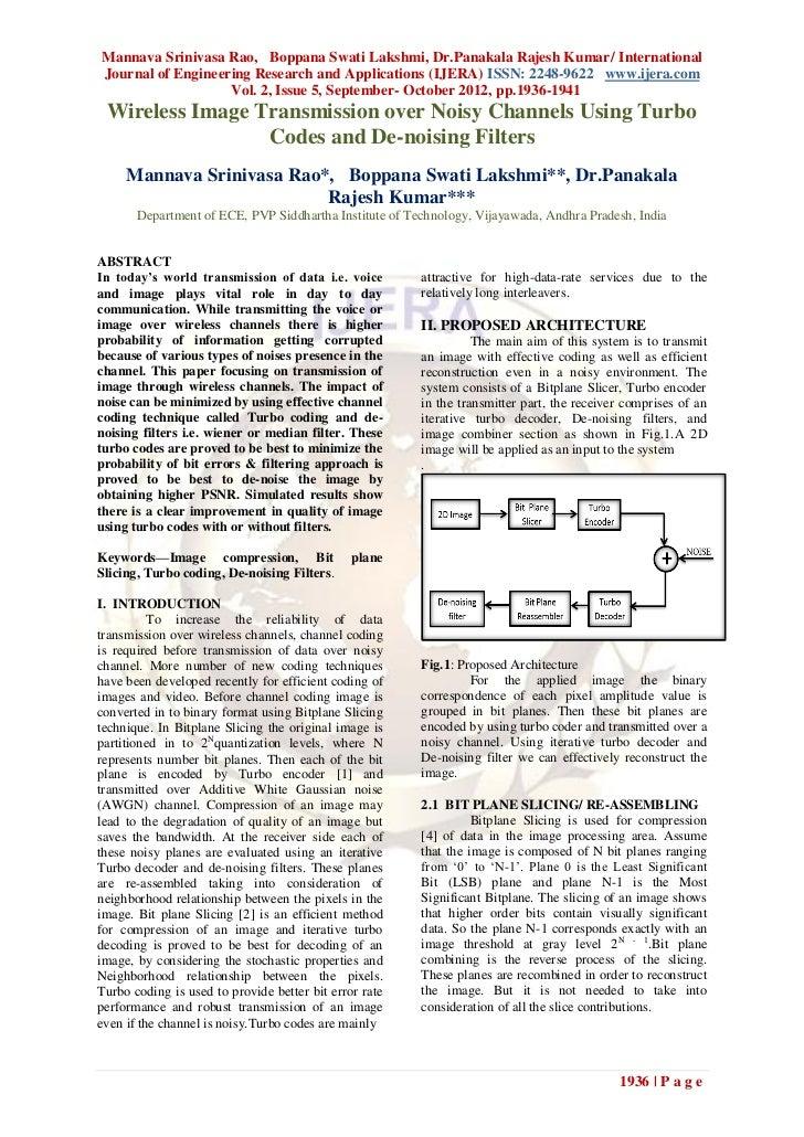 Mannava Srinivasa Rao, Boppana Swati Lakshmi, Dr.Panakala Rajesh Kumar/ InternationalJournal of Engineering Research and A...