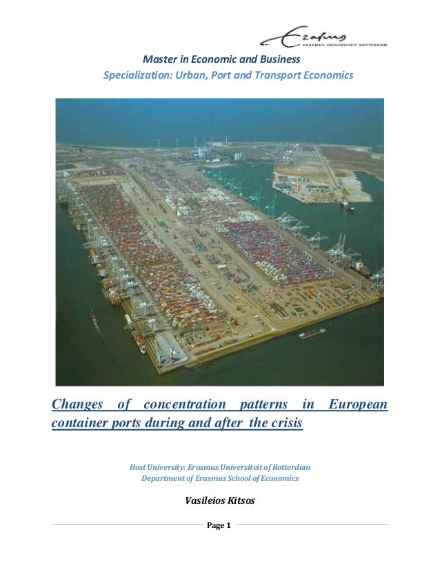 Page 1 Master in Economic and Business Specialization: Urban, Port and Transport Economics Changes of concentration patter...