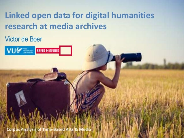 Linked open data for digital humanities research at media archives Victor de Boer Corpus Analysis of Time-Based Arts & Med...