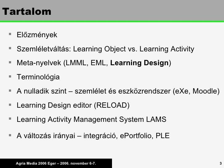 Learning Design a gyakorlatban Slide 3