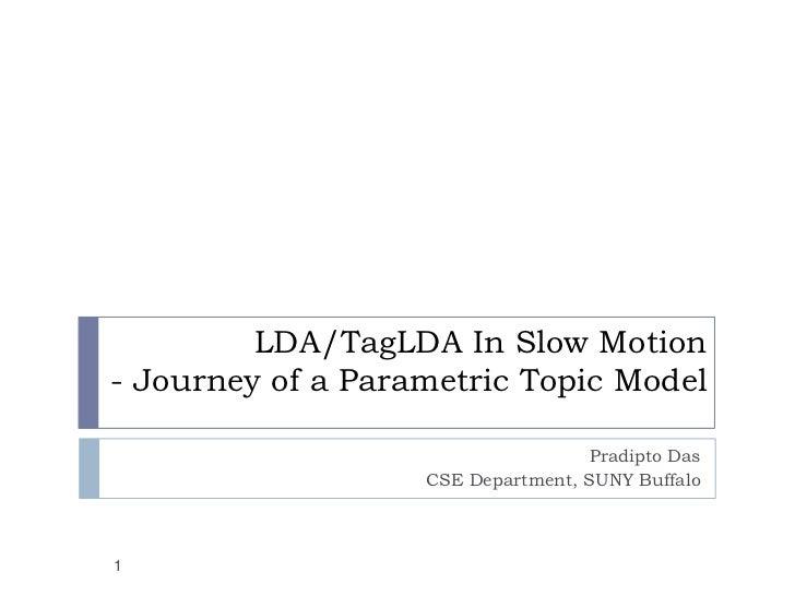 LDA/TagLDA In Slow Motion- Journey of a Parametric Topic Model                                   Pradipto Das             ...