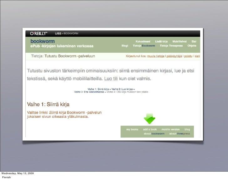Wednesday, May 13, 2009 Finnish