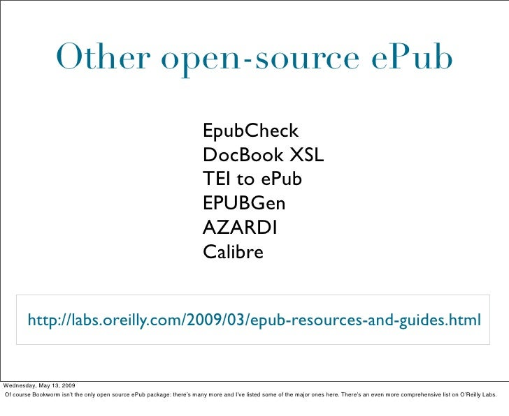 Other open-source ePub                                                                         EpubCheck                  ...