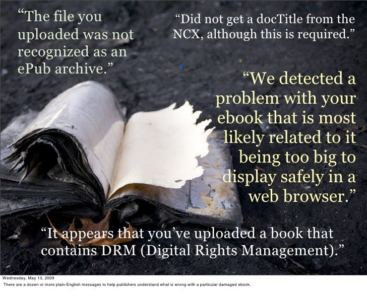 """""""The file you                                                                 """"Did not get a docTitle from the        uplo..."""