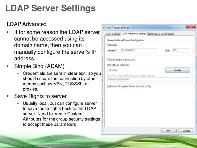 Security and LDAP integration in InduSoft Web Studio