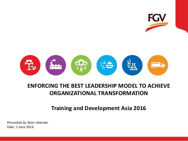 ENFORCING THE BEST LEADERSHIP MODEL TO ACHIEVE ORGANIZATIONAL TRANSFORMATION Training and Development Asia 2016 Presented ...