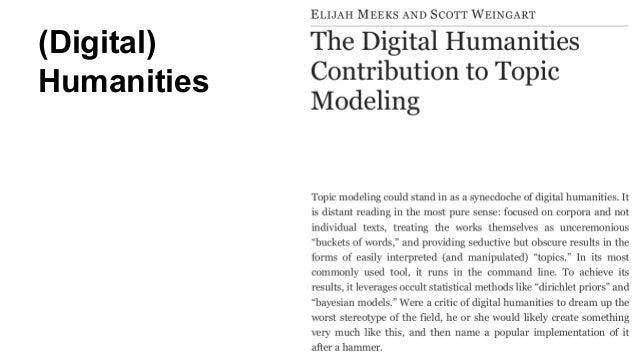 (Digital) Humanities