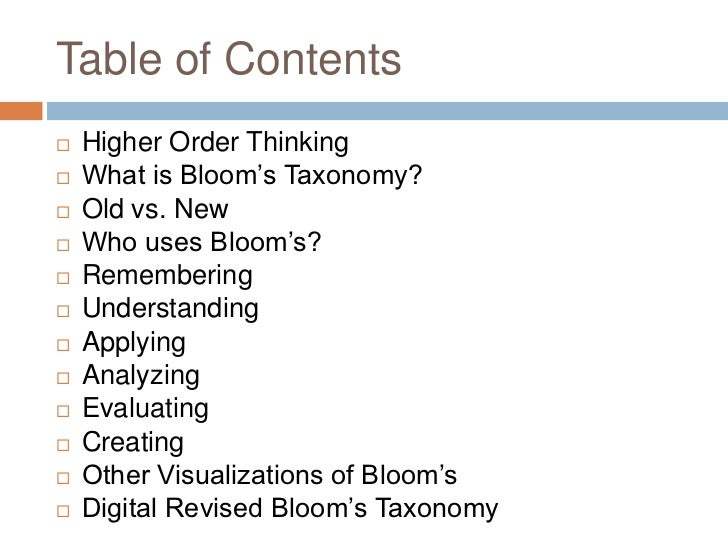Blooms Taxonomy Made Easy Slide 2