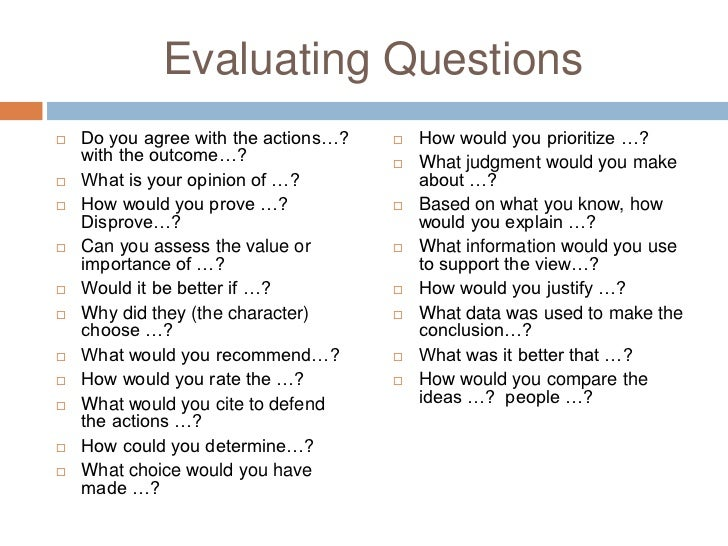 essay evaluation questions If you are looking for critical evaluation essay involves writing about the quality and value of something you've found a right site.