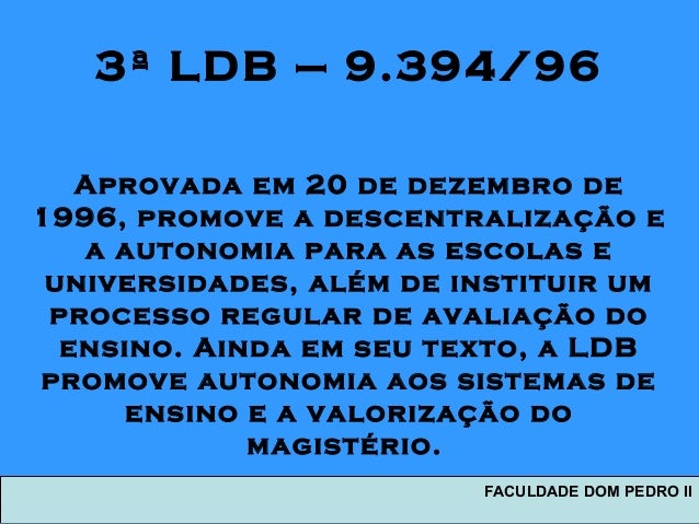 FACULDADE DOM PEDRO II 6 3 LDB