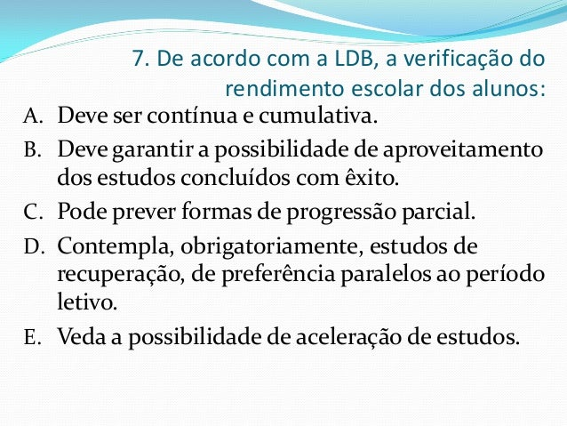 46 7 De Acordo Com A LDB