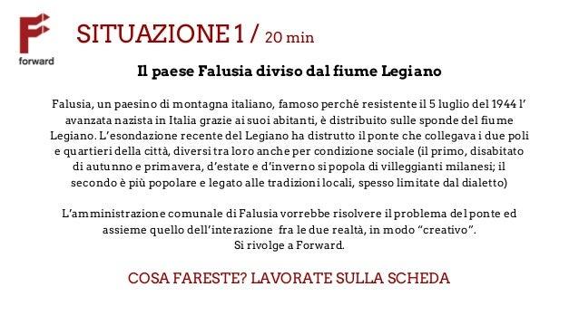 SITUAZIONE 1 / 20 min Il paese Falusia diviso dal fiume Legiano Falusia, un paesino di montagna italiano, famoso perché re...
