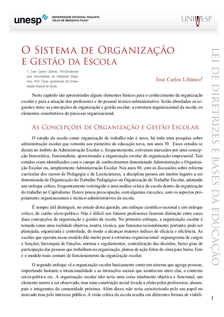 o sistema de organização                                                                                                  ...