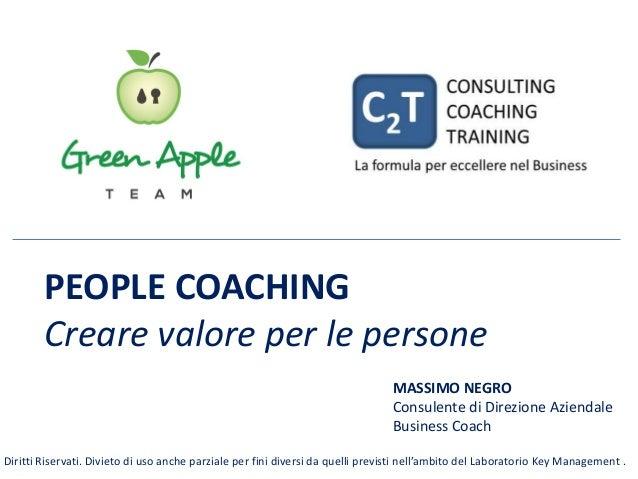 PEOPLE COACHING Creare valore per le persone MASSIMO NEGRO Consulente di Direzione Aziendale Business Coach Diritti Riserv...