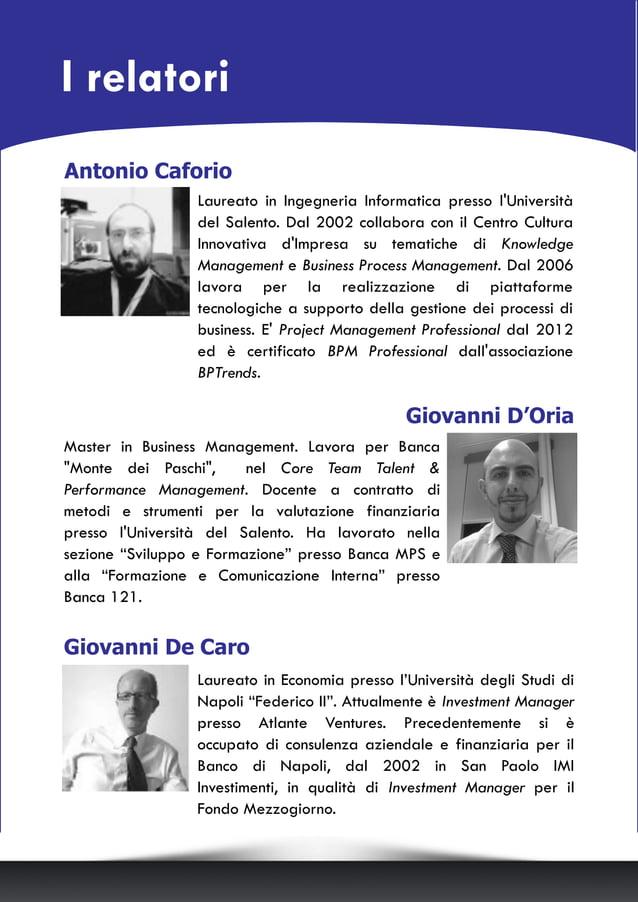 """Giovanni De Caro Laureato in Economia presso l'Università degli Studi di Napoli """"Federico II"""". Attualmente è Investment Ma..."""