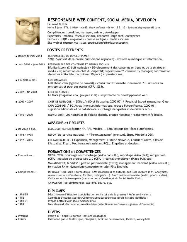 laurent dupin cv janvier 2013
