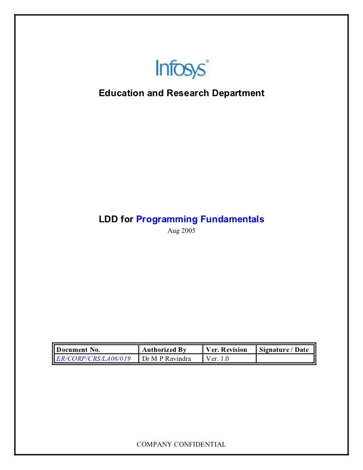 Education and Research Department                LDD for Programming Fundamentals                                Aug 2005 ...