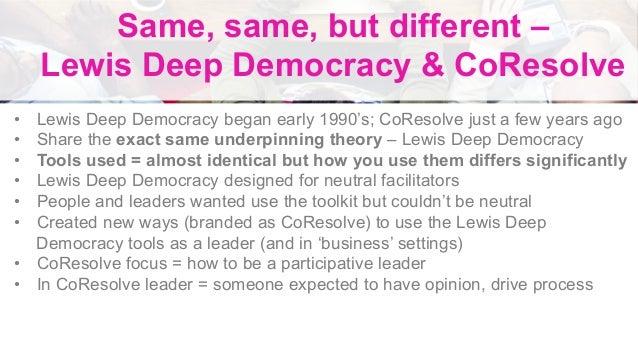 Lewis Deep Democracy Level 1 slidedeck