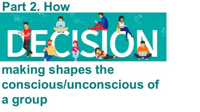 CONSCIOUS UNCONSCIOUS Group's Wisdom & Potential Not everyone aware Irrational/ emotional Everyone aware Rational/ logical...