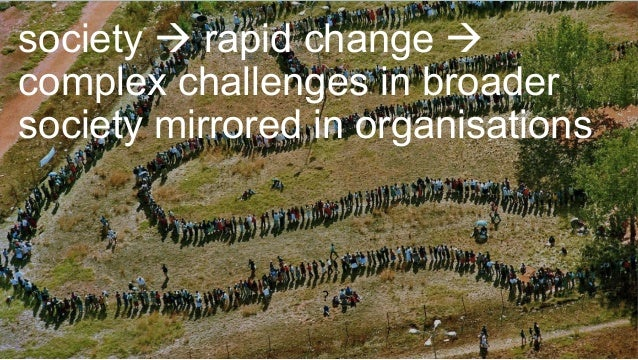 Lewis Method of Deep Democracy society à rapid change à complex challenges in broader society mirrored in organisations ?
