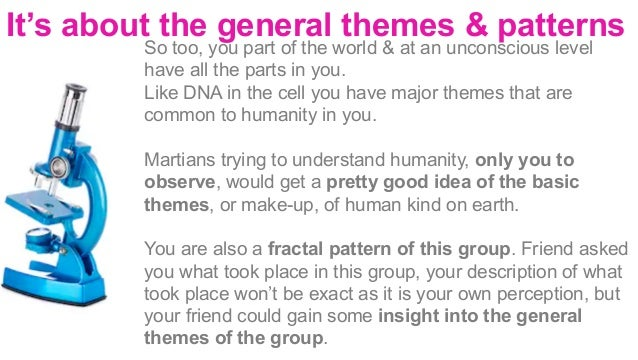 Another way to look at fractal patterns is to look at the following diagrams       If we take a holographic picture...