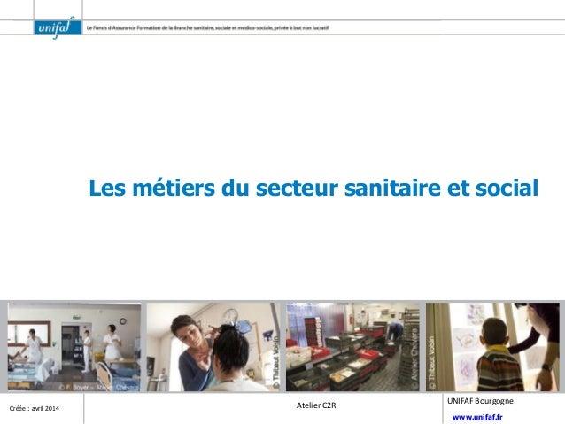 www.unifaf.fr Créée : avril 2014 Atelier C2R UNIFAF Bourgogne Les métiers du secteur sanitaire et social