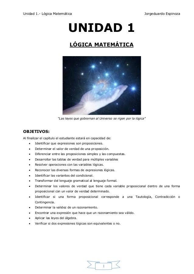 Unidad 1 lógica matemática