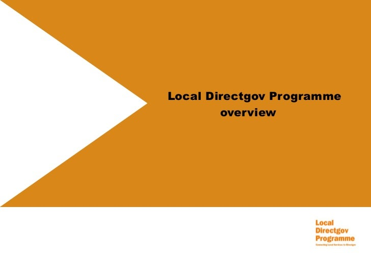 Local Directgov Programme overview