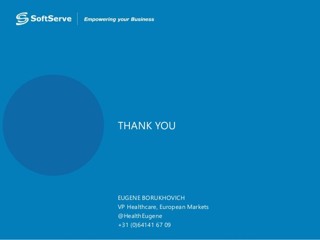 Health 2.0 Europe SoftServe : Future of EMR - Human 360 Experience