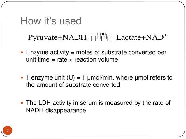 lactate dehydrogenase assays, Skeleton