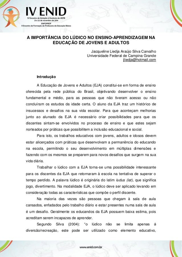 Amado LÚDICO NA EDUCAÇÃO DE JOVENS E ADULTOS ID15