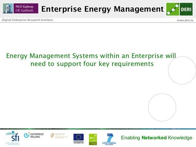 Enterprise Energy ManagementDigital Enterprise Research Institute                              www.deri.ie  Energy Managem...