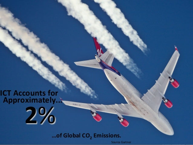 ICT's Mass Produc:on Carbon Cost ICT Accounts for  Approximately...          2%                      …...