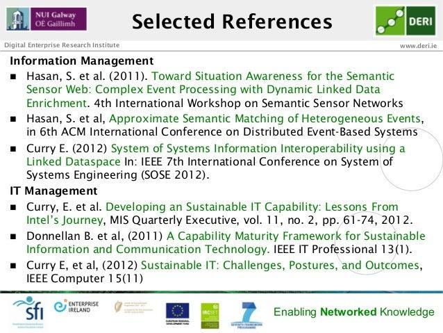Selected ReferencesDigital Enterprise Research Institute                                     www.deri.ie Information Manag...