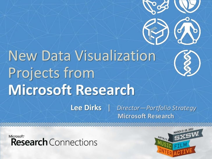 New Data VisualizationProjects from              | Director—Portfolio Strategy                 Microsoft Research