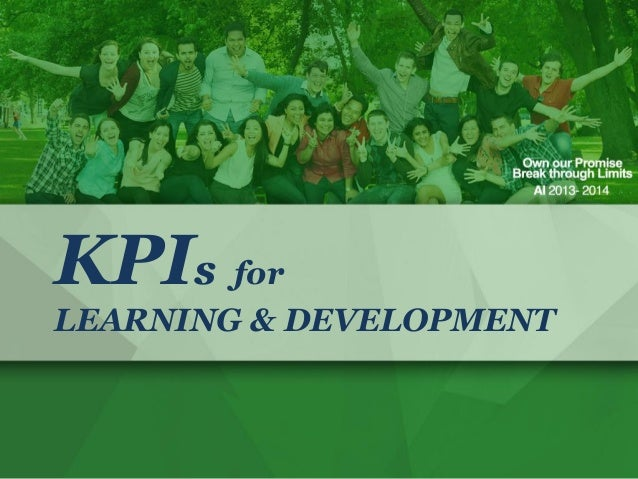 KPIs for LEARNING & DEVELOPMENT