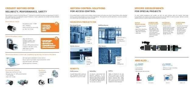 Crouzet Motors Motion Control Solutions For Access Control