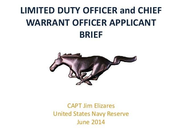 LDO CWO Application Brief FY16