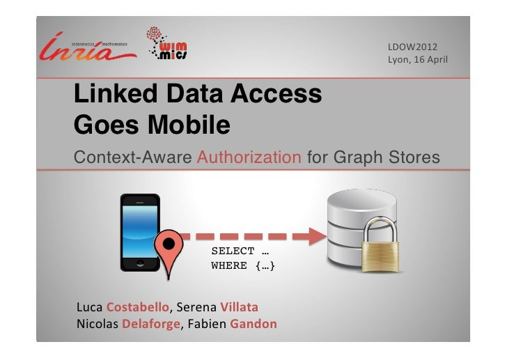 LDOW2012	                                                     Lyon,	  16	  April	  Linked Data Access 