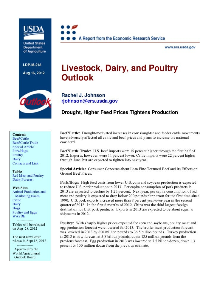LDP-M-218       Aug 16, 2012                           Livestock, Dairy, and Poultry                           Outlook    ...