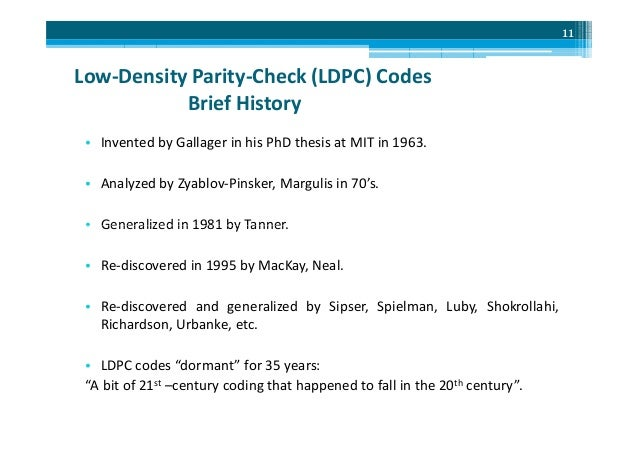 gallagher thesis ldpc